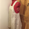 Japanese Apron, Light grey with white dots, small, size 8/10