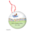 Personalised Christmas decorations Flying Santa