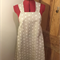 Japanese Wrap Apron, Light grey with white dots, small, size 8/10
