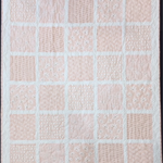 No 89 - Peach and white squared quilt