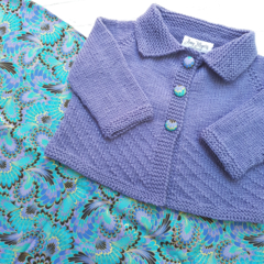Little Cardigan - Size 1 Hand Knitted - Merino Wool