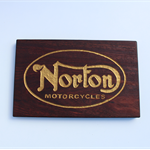 Vintage Norton Motorcycle Jarrah Block Mount