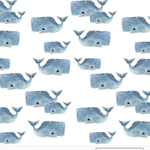 Blue Whale Fitted Sheet