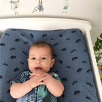 Navy Woodland Fitted Cot Sheet