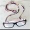 Eye Glasses Holder - SAKURA - PURPLE multi / Kimono / Japanese chirimen cord /