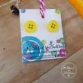 Yellow - Button Fusion Necklace - Button Jewellery - Earrings