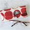 PADDED POUCH-WHITE×RED - DARUMA / Glasses case /