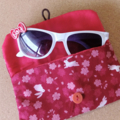 KIDS / MULTI POUCH - RED - RABBIT & SAKURA / Glasses case