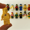 Genuine 'Lego man' badges / brooches (spaceman, fireman, soldier, pirate, etc)