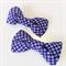 Bow hair clip - NAVY PURPLE - KANOKO / Japanese crape / Kimono /