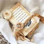 Shabby Rustic Chic Altered Vintage Book Bedroom Decor Gift Page Boy?