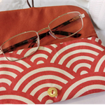 PADDED POUCH - ORANGE - WAVE / Glasses case /