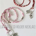 Lanyard / ID Holder Necklace - SAKURA / Japanese Kimono cord / Keyring
