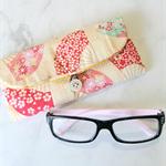 PADDED POUCH - CREAM - FAN / Glasses / sunnies / Xmas / teachers / gift