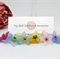 Flowers Wine Glass Charms (red) Original OOAK by Top Shelf