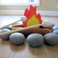 Felt Campfire Set with Marshmallows