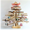 45 cm Wooden Christmas Tree with decorations   choice of colours available