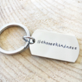 Dog Tag Keyring, Quote Keychain, Hand Stamped Keyring, Inspiration Keychain