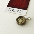 Pendant created from a vintage typewriter key - Tabular, creamy ivory key