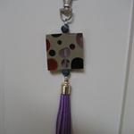 Purple Tassel Keyring or Handbag Bling