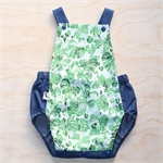 Summer Green and Chambray Monstera / Palm