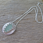 SUMMER MEMORIES SEAGLASS & STERLING SILVER NECKLACE
