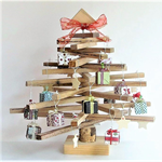 45 cm Wooden Christmas Tree with decorations  