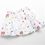 Gorgeous Rainbow Girls Twirl Skirt