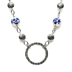 Glasses Chain Gifts for Mum Floral Blue Glasses Holder Necklace for Grandma