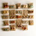 Bohemian Amethyst Gemstone Stud Earrings