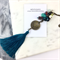Teal Tassel and Semi Precious Steampunk Necklace