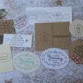 45 Assorted Christmas Tags  Homebaked Tags Homemade Gift tags