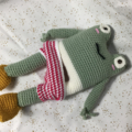 Phillipe Frog crocheted, knitted softie
