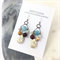 Earthy Tones Semi Precious Stone Earrings with Copper Metal Earring Hooks