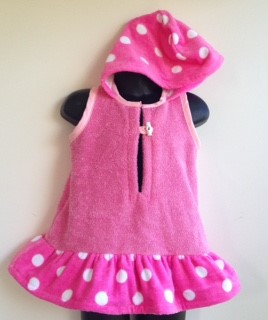 Size 1 - Girls Beach Towel Dress/Pool Cover up
