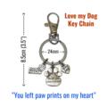 Keyring Dog Loss Keychain Pet Memory  Lanyard Accessory Bag Tag Pet Memorial