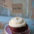 10 Eat Me Cupcake Toppers Cake Toppers Eat Me Toppers Eat Me picks Alice Parties