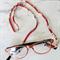 Eye Glasses Holder - SAKURA - RED multi / Japanese kimono cord / FREE SHIPPING