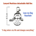 """""""Love my Dog' Keychain, Gift for Dog Lovers, Christmas Stocking Fillers"""