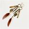 Gypsy Boho Charm Feather  Earrings