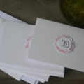 6 Notelets ~ Notecard with Personalised Letter B on the front ~ Ready to Post