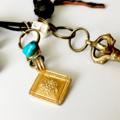 Gypsy Turquoise Charm Boho Necklace