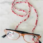 Eye Glasses Holder - WHITE×RED - SAKURA / Japanese kimono cord