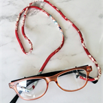 Eye Glasses Holder - SAKURA - RED multi / Japanese kimono cord / FREE SHIPPING