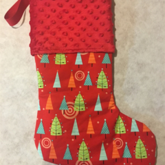 Personalised Christmas Stocking - Colourful Trees