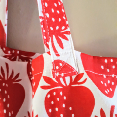 Strawberry Shopping Tote- Free Postage