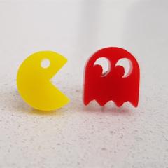 Retro Pac Man Shape Earrings