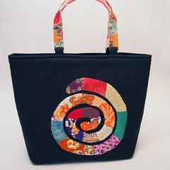 Kimono Snake & Flower Bag