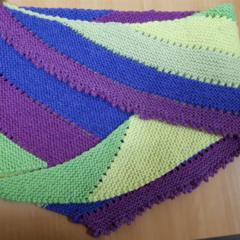 Multi coloured scarf or shawlette