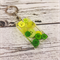 Resin Keyring - Green Buttons - Bag Tag - Luggage Identifier - Rectangle